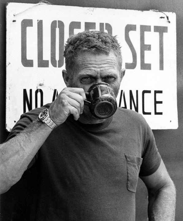 Steve McQueen, Coffee Time by Ron Galella